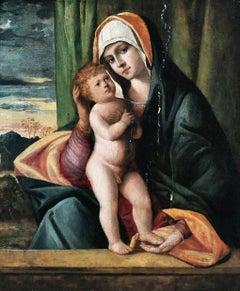 Madonna & Child, 15th Century  School of Giovanni BELLINI (1430-1516)