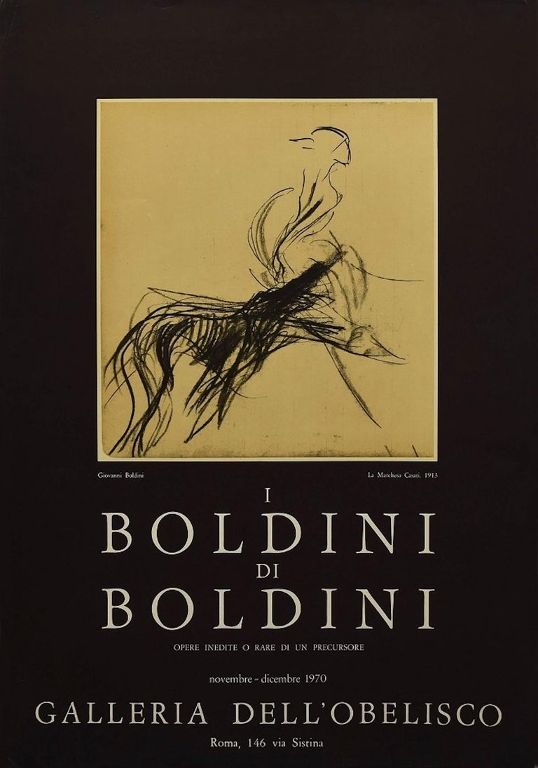 Giovanni Boldini Vintage Poster Exhibition - 1970 - Print by Giovanni Boldini