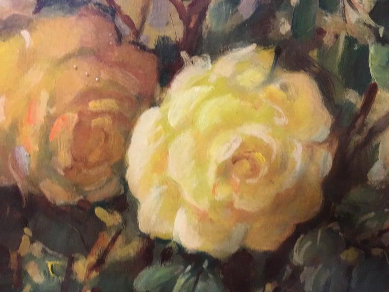 FLOWERS - Italian still life oil on canvas painting, Giovanni Bonetti For Sale 1