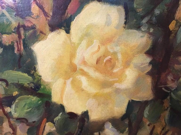 FLOWERS - Italian still life oil on canvas painting, Giovanni Bonetti For Sale 2
