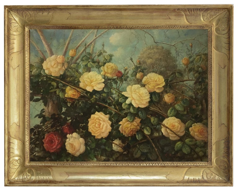 FLOWERS - Italian still life oil on canvas painting, Giovanni Bonetti For Sale 4