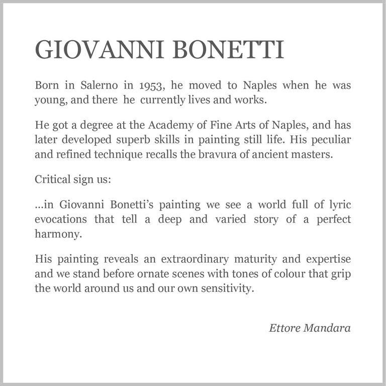 FLOWERS - Italian still life oil on canvas painting, Giovanni Bonetti For Sale 5