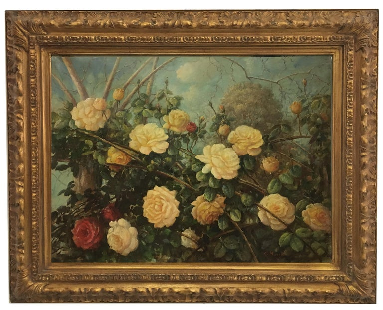 FLOWERS - Italian still life oil on canvas painting, Giovanni Bonetti For Sale 5