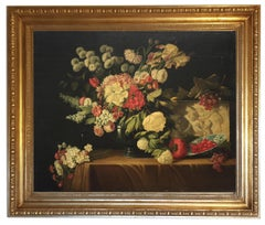Still life - Giovanni Bonetti Italian Still Life Oil on Canvas Painting