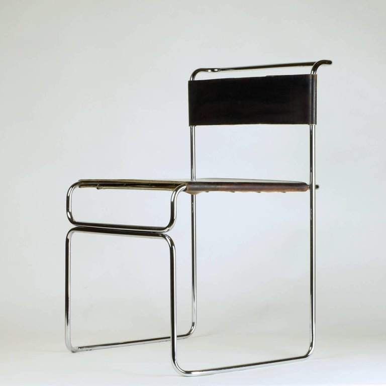Late 20th Century Giovanni Carini for Planula, circa 1970 Stunning, Elegant Side or Desk Chair For Sale