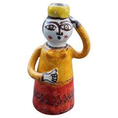 Giovanni de Simone Sculpture Farmer Italia Design Red and Yellow Picasso Style