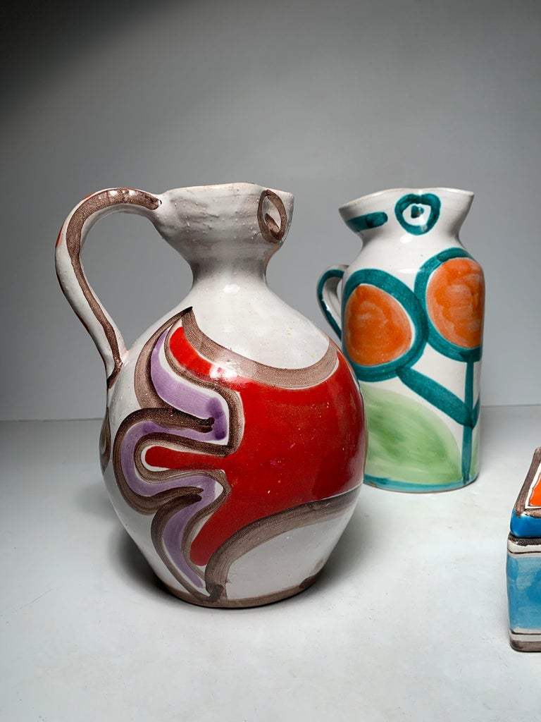 Giovanni DeSimone pottery pitcher collection grouping