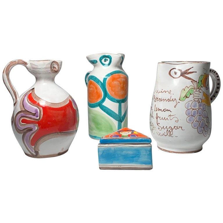 Giovanni DeSimone Pottery Pitchers Collection Grouping For Sale