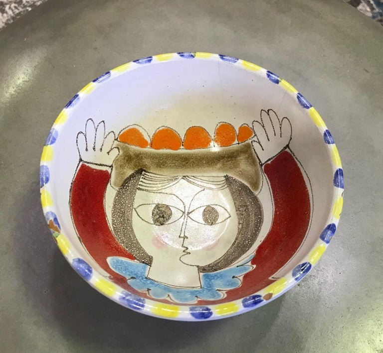 A whimsical work by master Italian potter Giovanni Desimone.  Giovanni Desimone was born in 1930 in Palermo, Italy. The Desimone ceramics studio began in Palermo in the 1960s and flourished with his individually handmade and hand painted,