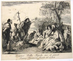 La Predicazione di S. Giovanni Battista - Etching by Tiepolo - 18th Century