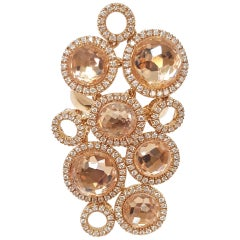 Giovanni Ferraris Italian Sapphire Diamond Rose Gold Ring