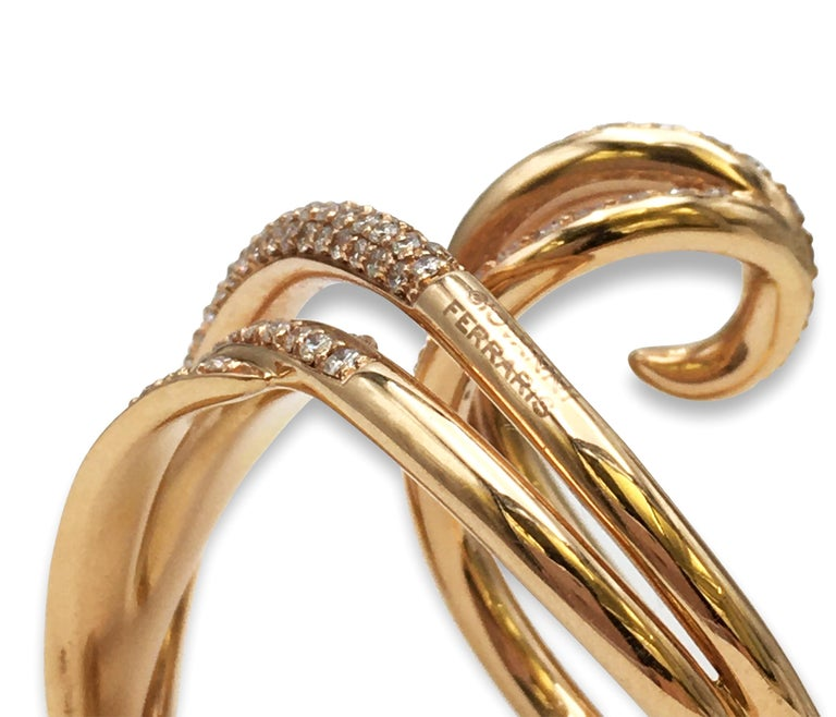 Women's Giovanni Ferraris Rose Gold and Diamond Ring For Sale