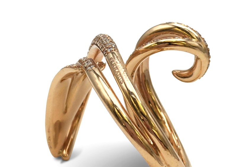 Giovanni Ferraris Rose Gold and Diamond Ring For Sale 1