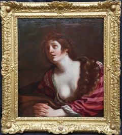 The Penitent Magdalene - Italian Baroque Old Master art portrait oil painting