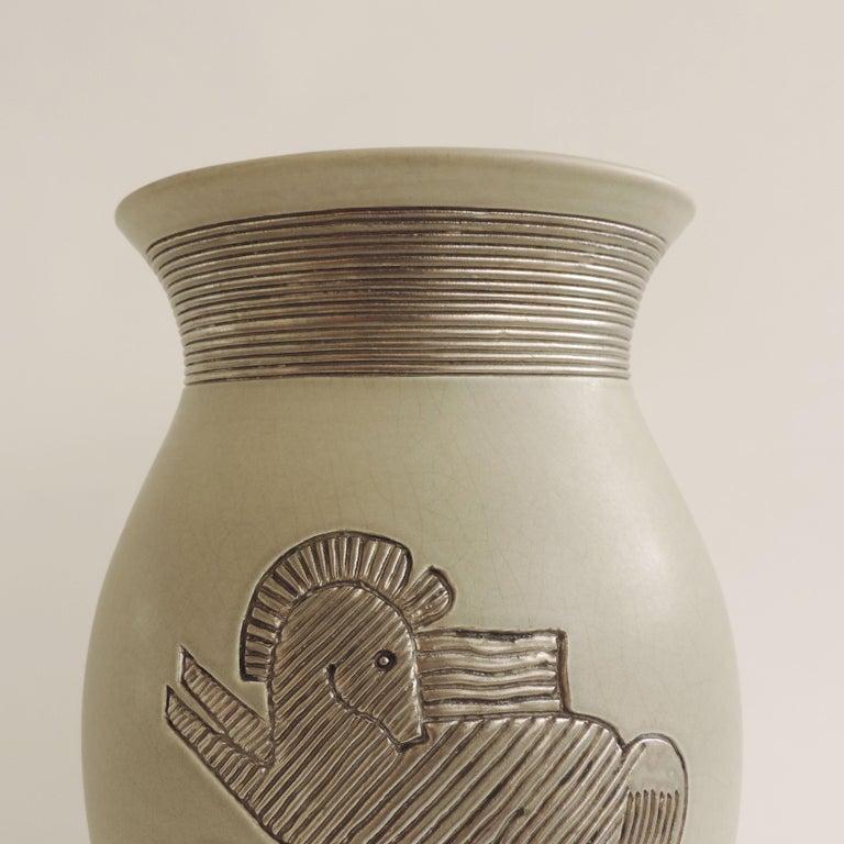 Monumental and rare Giovanni Gariboldi vase for Richard Ginori, Milano, Italy 1930s.