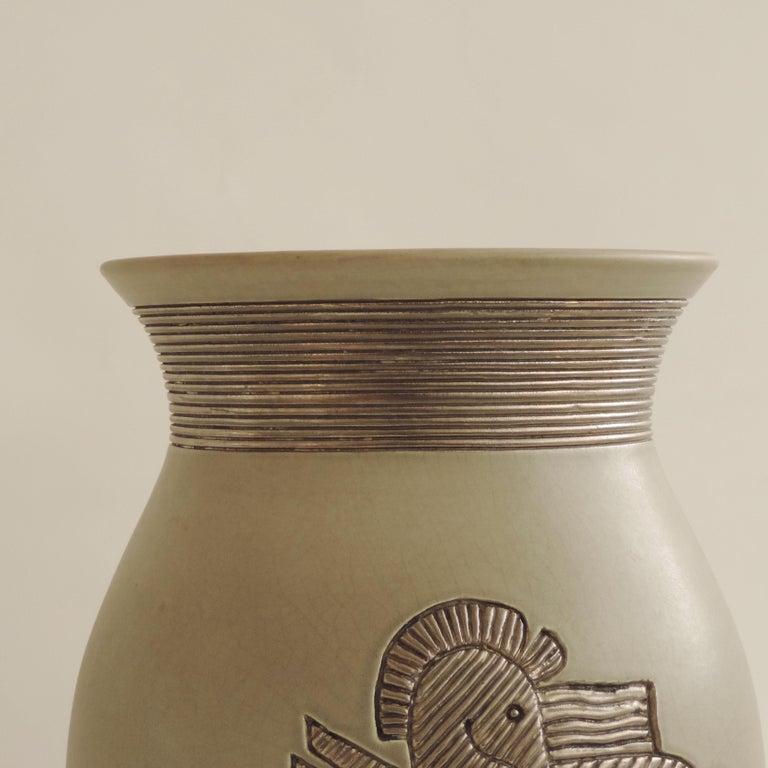 Italian Giovanni Gariboldi Vase for Richard Ginori, Milano, Italy, 1930s For Sale