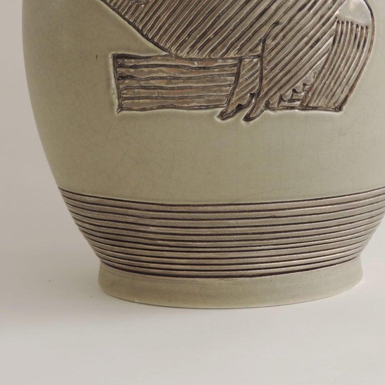 Mid-20th Century Giovanni Gariboldi Vase for Richard Ginori, Milano, Italy, 1930s For Sale