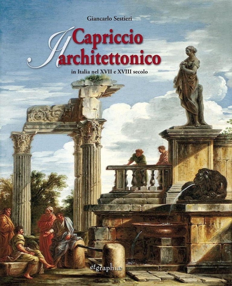 Capriccio - 17th Century Oil on Canvas Classical Architectural Ruins Painting  15