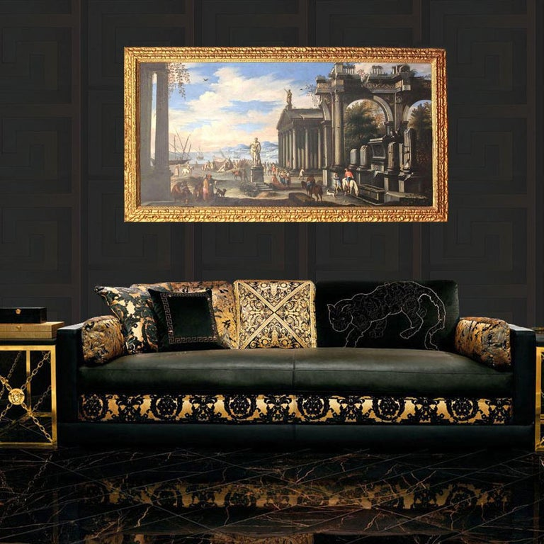 Giovanni Ghisolfi Figurative Painting - Capriccio - 17th Century Oil on Canvas Classical Architectural Ruins Painting