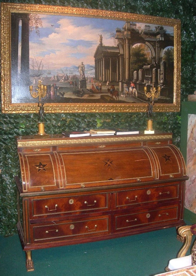 Capriccio - 17th Century Oil on Canvas Classical Architectural Ruins Painting  6