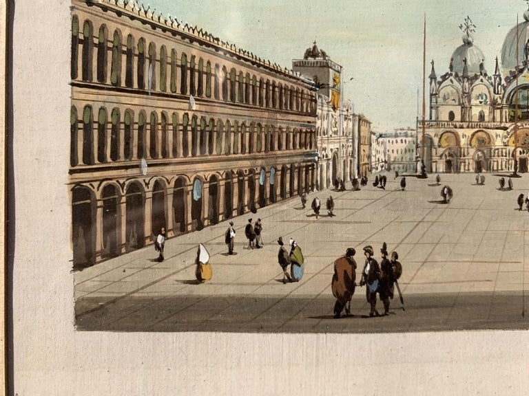 19th century Venetian painting - View Venice - Gouache on paper Grubacs Italy For Sale 5