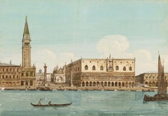 19th century Venetian painting - View Venice - Gouache on paper Grubacs Italy