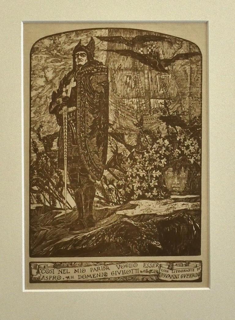 Crusader - Original Lithograph by Giovanni Guerrini - 1930 ca.