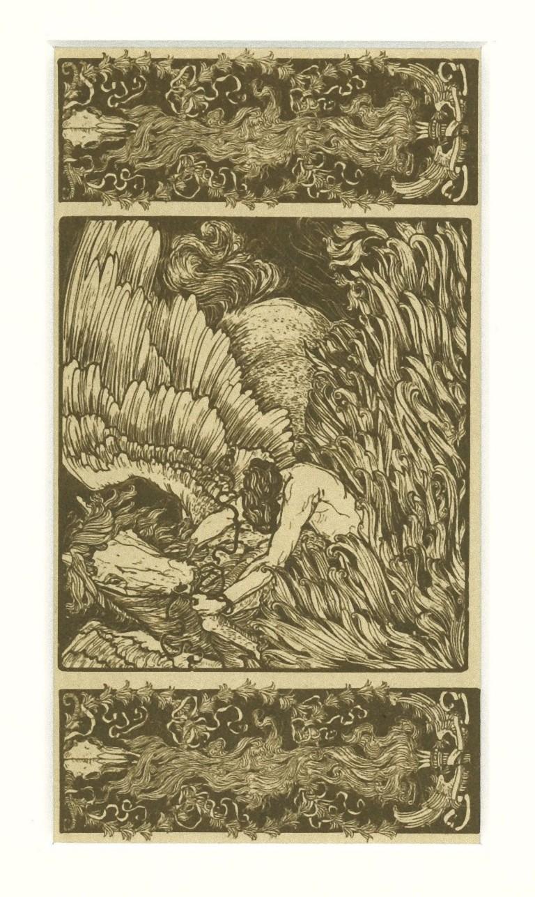 Figure - Original Screen Print by Giovanni Guerrini - Early 20th Century