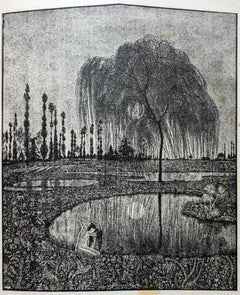 Specchio (Mirror) - Original Woodcut on Paper by G.Guerrini - Early 20th Century