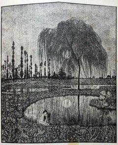 Specchio (Mirror)- Original Woodcut on Paper by Giovanni Guerrini - 20th Century