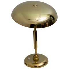 "Giovanni Michelucci Midcentury Italian Adjustable Brass Table Lamp ""Lariolux"""