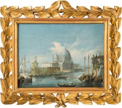 19th century Italian painting view of Venice - Venetian tempera on paper Italy