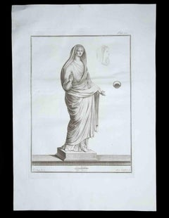 Ancient Roman Statue - Etching by Giovanni Morghen - 18th Century