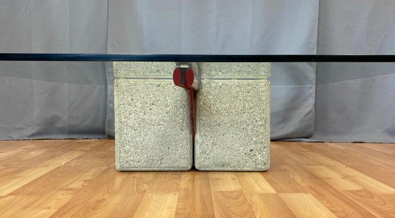 Giovanni Offredi designed Concrete Coffee Table for Saporiti Italia  For Sale 3