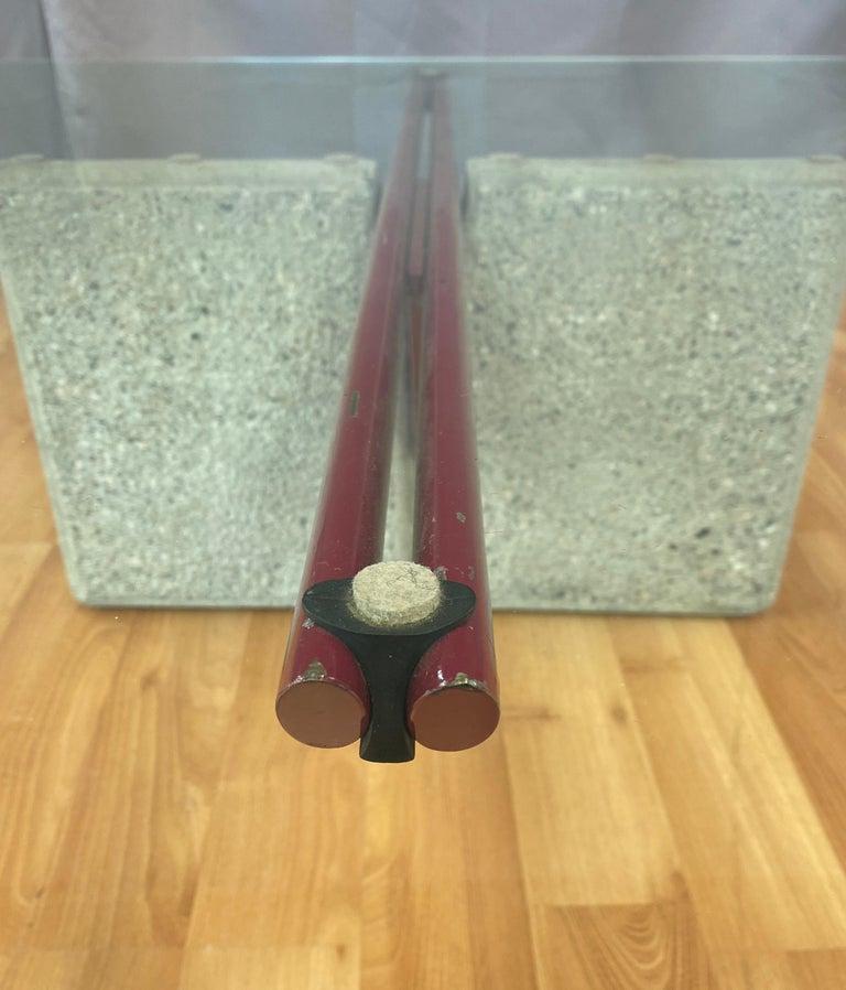 Giovanni Offredi designed Concrete Coffee Table for Saporiti Italia  For Sale 5