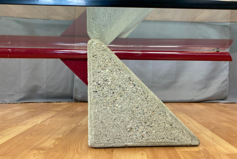 Giovanni Offredi designed Concrete Coffee Table for Saporiti Italia  For Sale 6