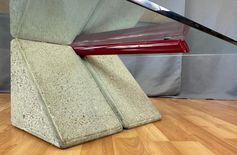 Giovanni Offredi designed Concrete Coffee Table for Saporiti Italia  For Sale 8