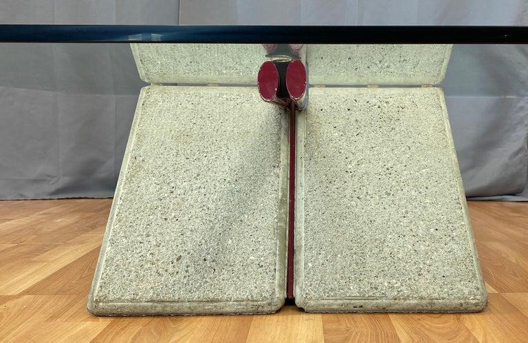 Giovanni Offredi designed Concrete Coffee Table for Saporiti Italia  For Sale 9