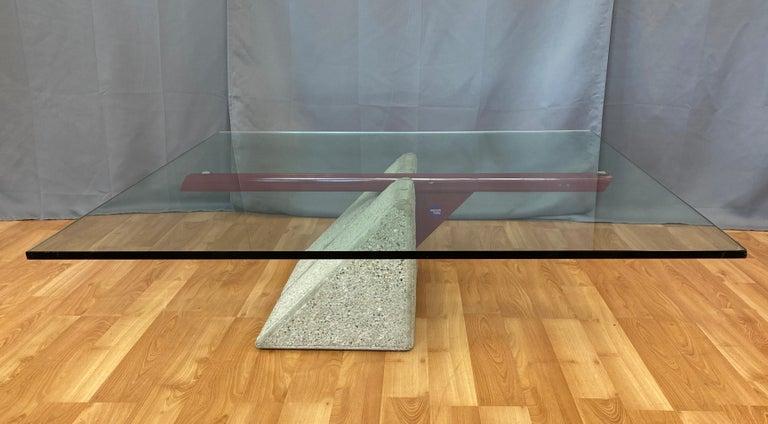 Post-Modern Giovanni Offredi designed Concrete Coffee Table for Saporiti Italia  For Sale