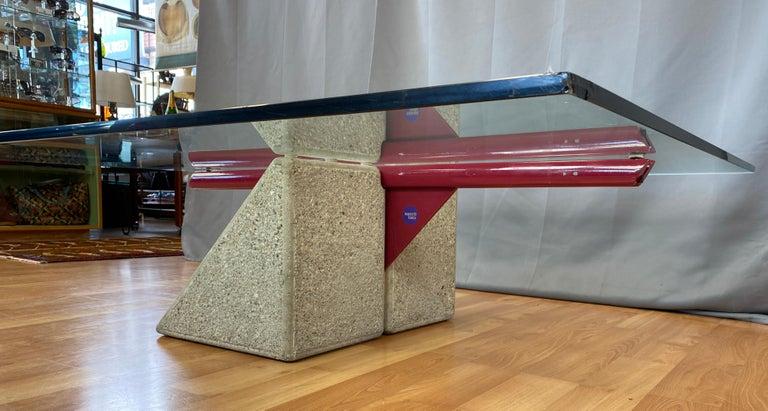 Giovanni Offredi designed Concrete Coffee Table for Saporiti Italia  For Sale 1