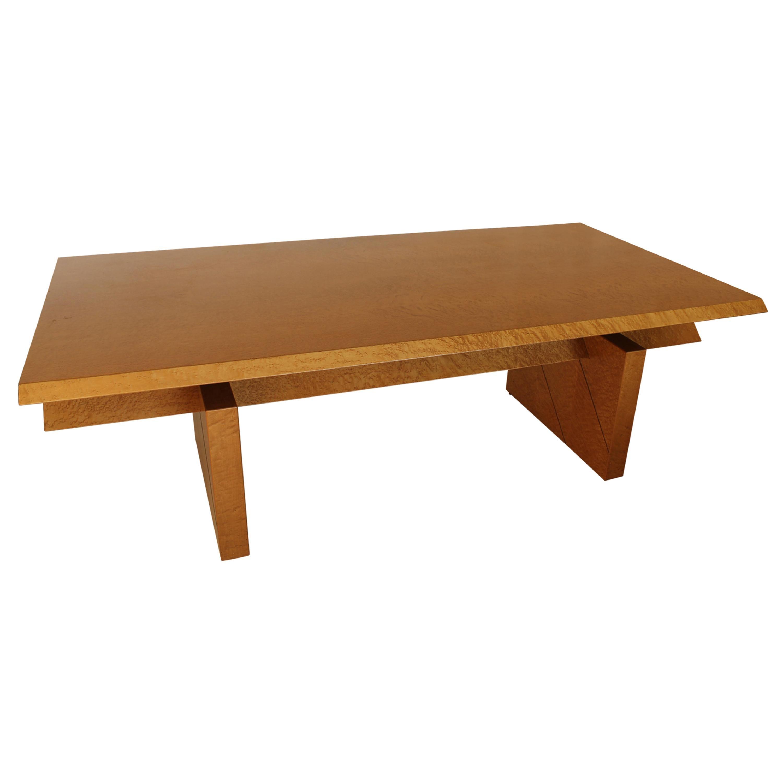 Giovanni Offredi for Saporiti  Executive Desk, Italy, 1980s Maple Wood
