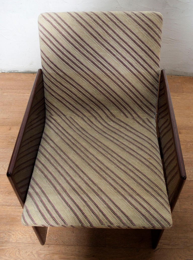 Giovanni Offredi Italian Dining Chairs Missoni Fabric by Saporiti, 1970s For Sale 3