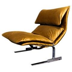 """Giovanni Offredi """"Onda"""" Lounge Chair for Saporiti"""