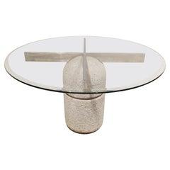 """Giovanni Offredi """"Paracarro"""" Dining Table for Saporiti, 1970s"""