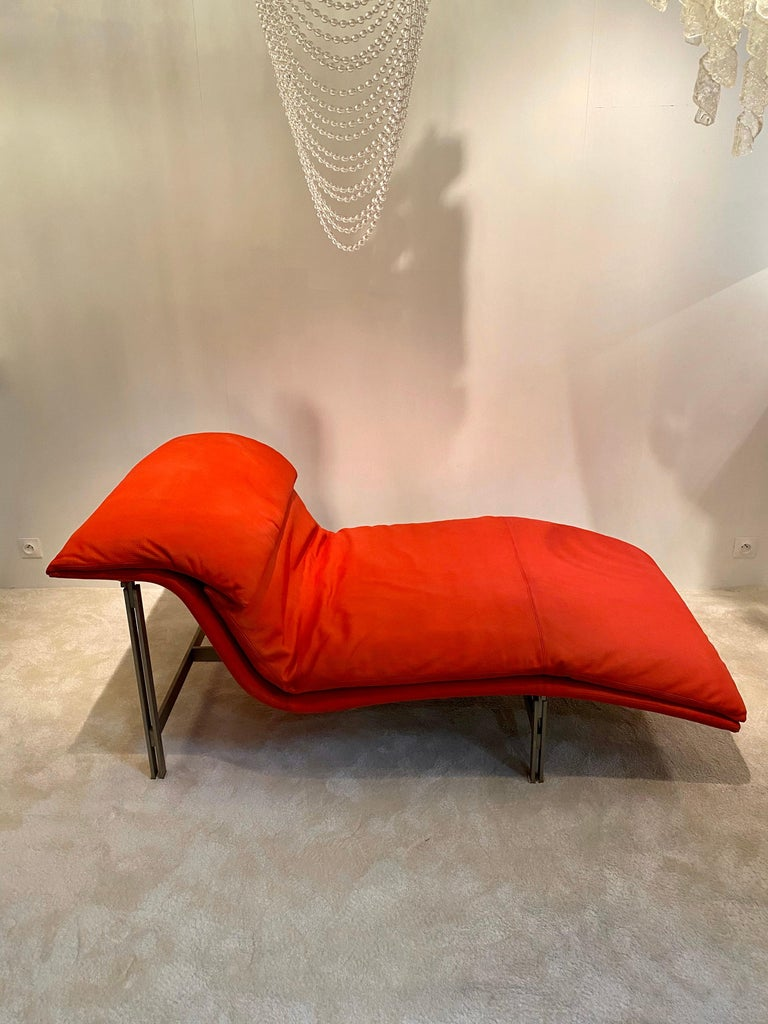 """Mid-Century Modern Giovanni Offredi """"Wave"""" Lounge Chair for Saporiti, 1974 For Sale"""