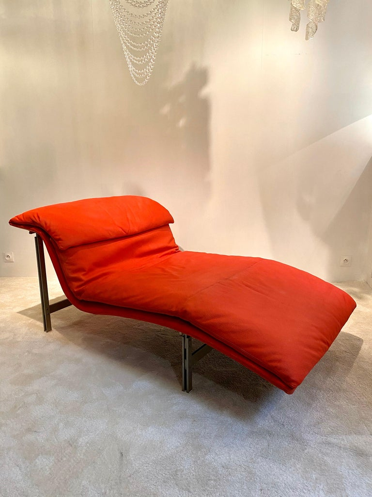 "Italian Giovanni Offredi ""Wave"" Lounge Chair for Saporiti, 1974 For Sale"