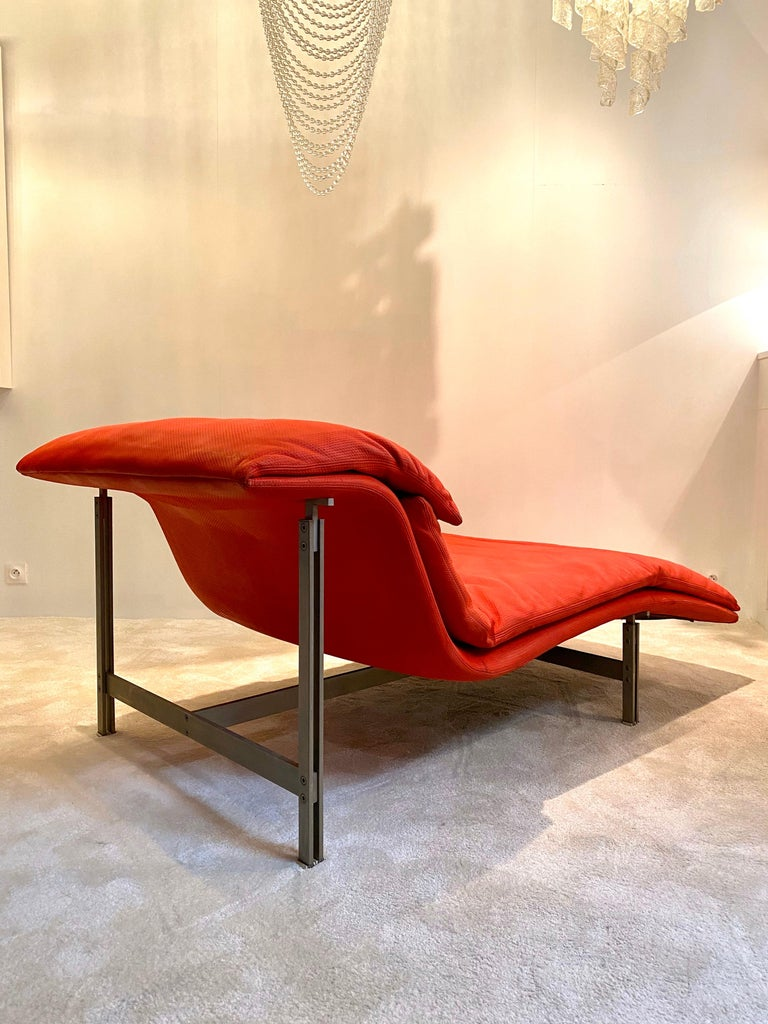 """Late 20th Century Giovanni Offredi """"Wave"""" Lounge Chair for Saporiti, 1974 For Sale"""