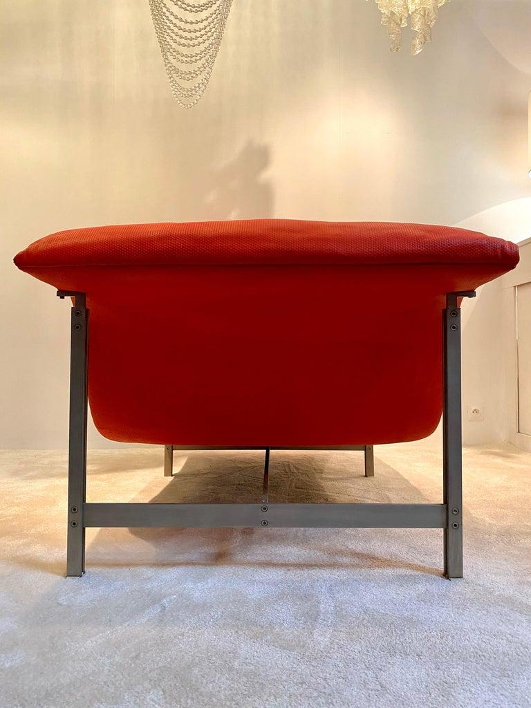 "Giovanni Offredi ""Wave"" Lounge Chair for Saporiti, 1974 For Sale 2"