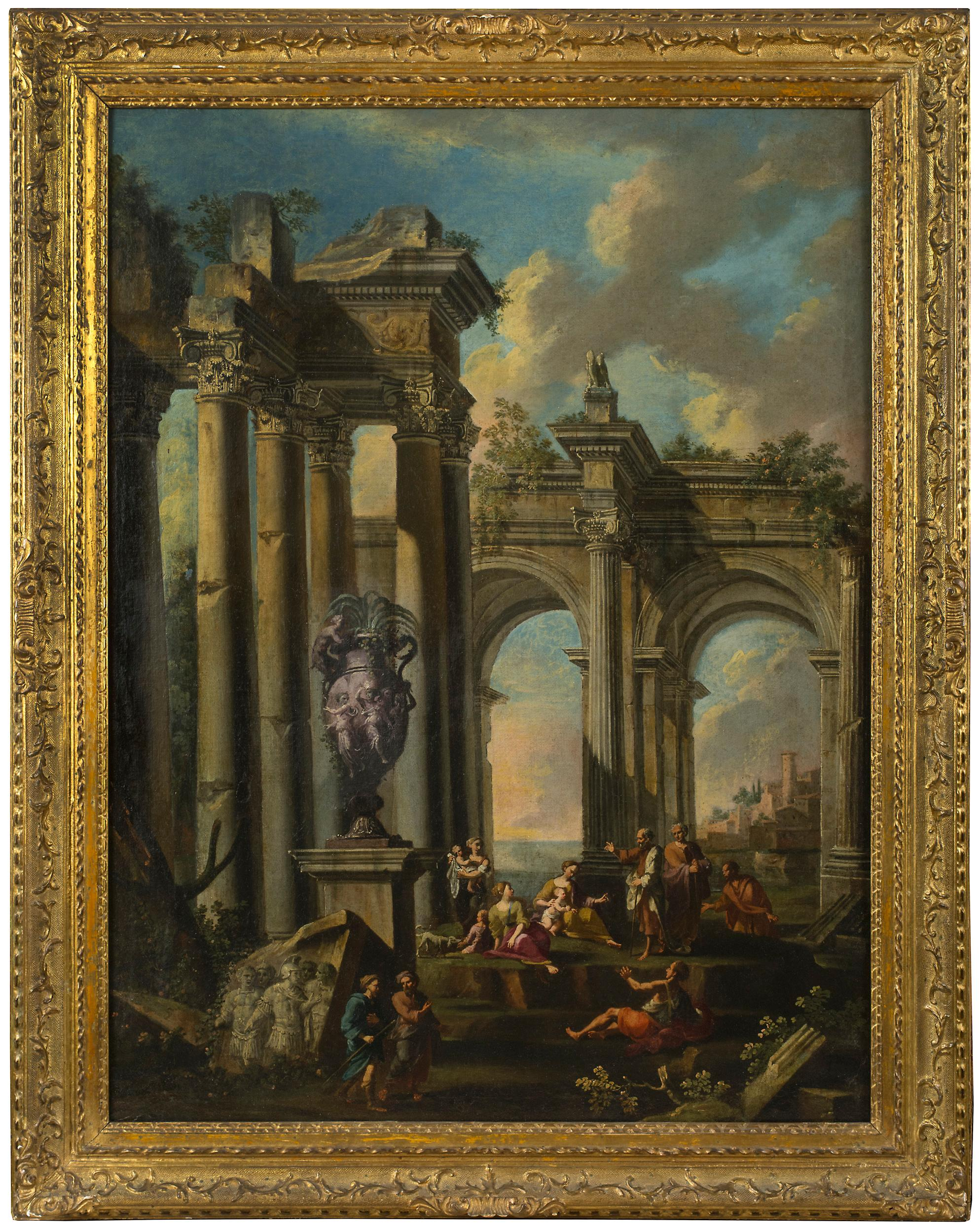 An Architectural Capriccio with the Preaching of an Apostle