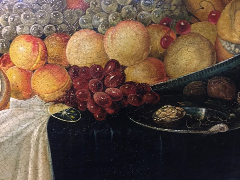Still life - Giovanni Perna Italia 2006 - Oil on canvas cm.60x80 Frame available on request from our workshop.  In this beautiful oil on canvas Giovanni Perna was inspired by the paintings of the Spanish painter of Dutch origin Juan van der Hamen,